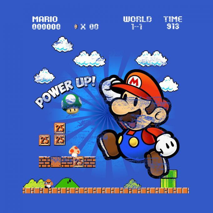 Camiseta chica Super Mario Bros. Pantalla