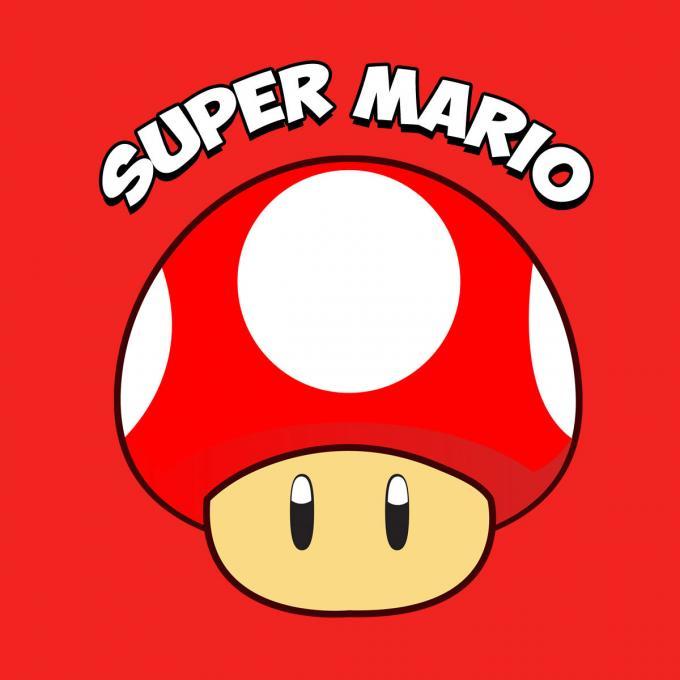 Camiseta chica Super Mario Bros. Seta Roja