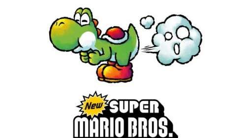 Camiseta chica Super Mario Bros. Yoshi ataque con gas
