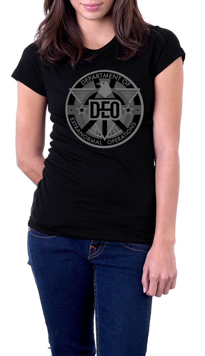 Camiseta chica Supergirl DEO (Department of Extranormal Operations)