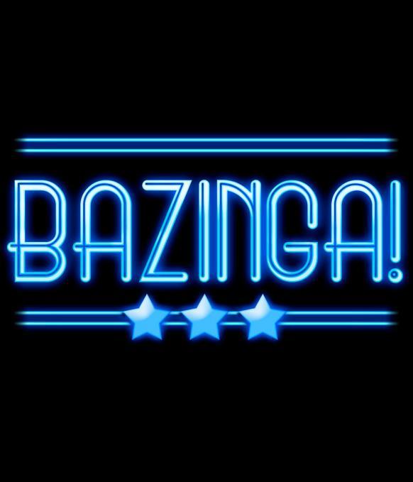 Camiseta chica The Big bang Theory. Bazinga Neón