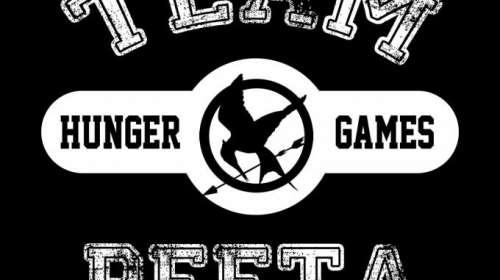Camiseta chica The Hunger Games (Los juegos del hambre). Team Peeta