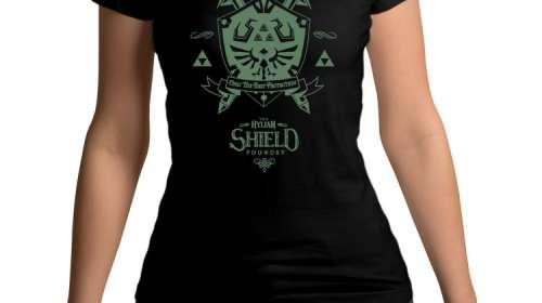 Camiseta chica The Legend of Zelda. The Hylian Shield Foundry
