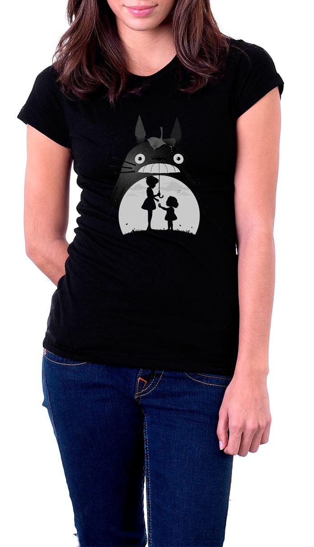 Camiseta chica Totoro sonrisa. Mi vecino Totoro
