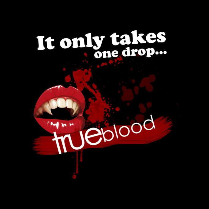 Camiseta chica True Blood. Una gota