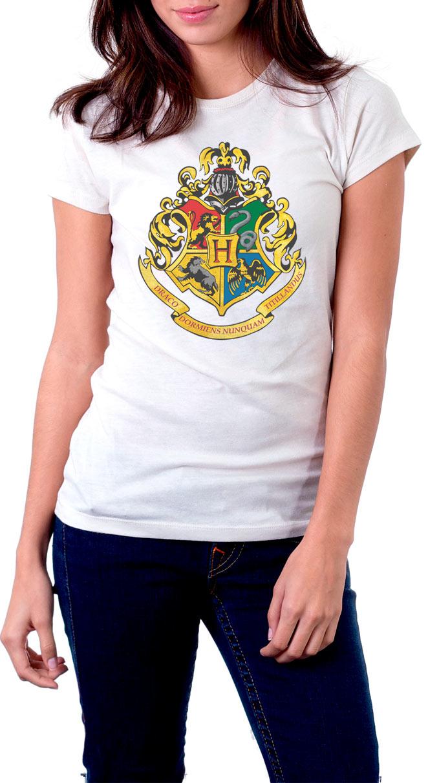 Camiseta chica escuela Hogwarts Harry Potter. Modelo 2