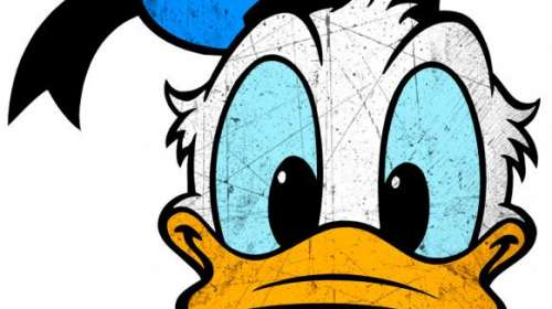 Camiseta chica pato Donald cara