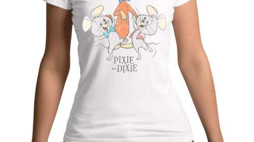 Camiseta chica ratones Pixie y Dixie. Looney Toones
