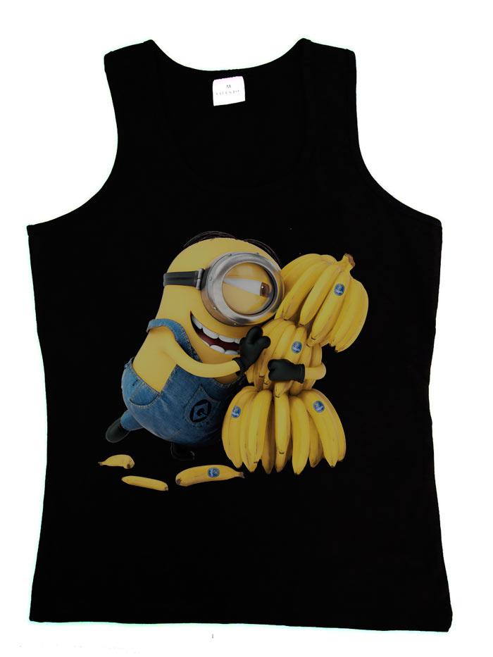 Camiseta Chica Tirantes Banana Minions Por 19 36 Qu 233 Friki