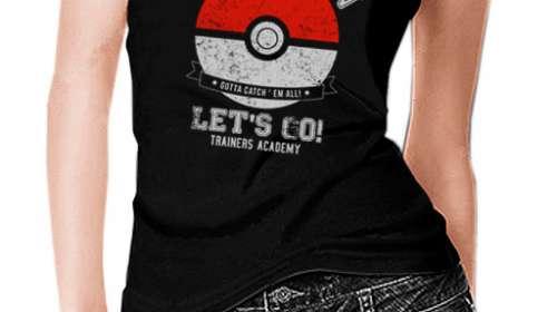 Camiseta chica tirantes Pokémon Go Poké Ball Let's Go!