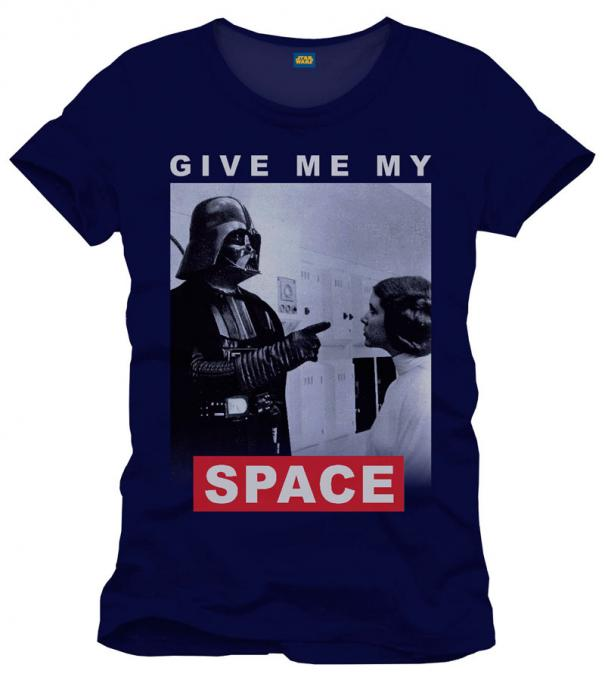 Camiseta give me my space. Star Wars