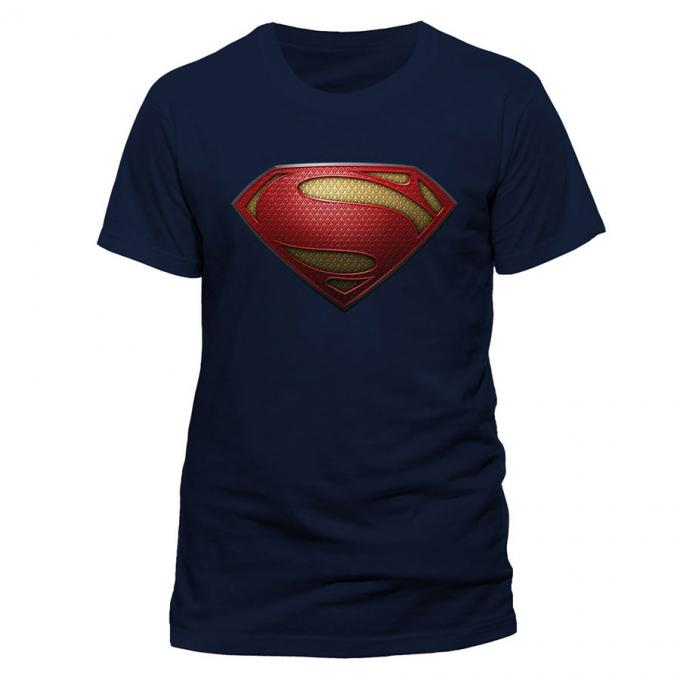 Camiseta logo Superman. Man of Steel. Modelo 4