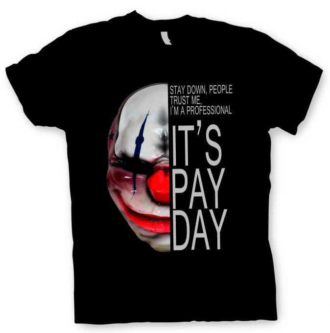 Camiseta máscara Chains. Payday 2