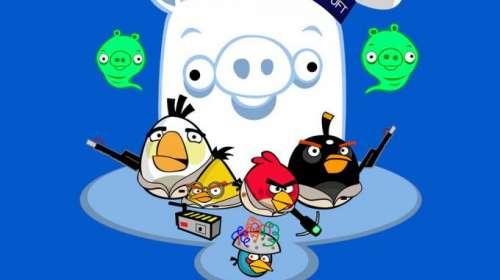 Camiseta niño Angry Birds como Los Cazafantasmas