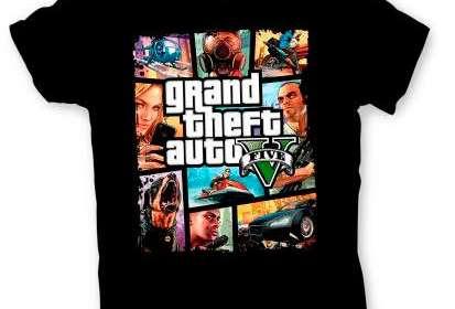 Camiseta niño Grand Theft Auto 5. Dibujos