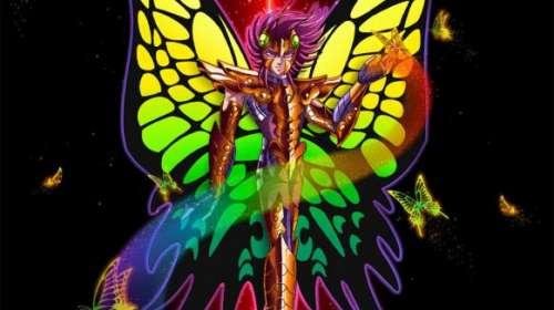 Camiseta niño Los Caballeros del Zodiaco. Myu de Papillon