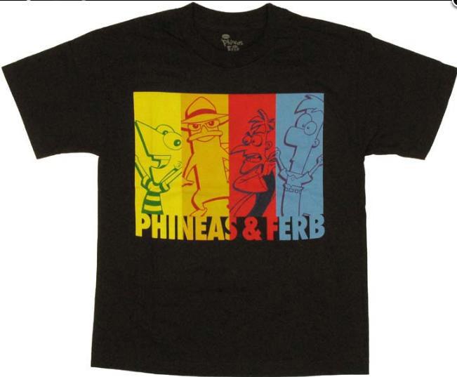 Camiseta niño Phineas y Ferb