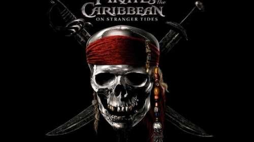 Camiseta niño Piratas del Caribe: en mareas misteriosas. Logo