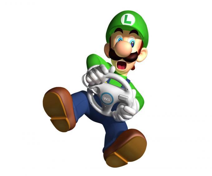 Camiseta niño Super Mario Bros. Luigi volante Wii