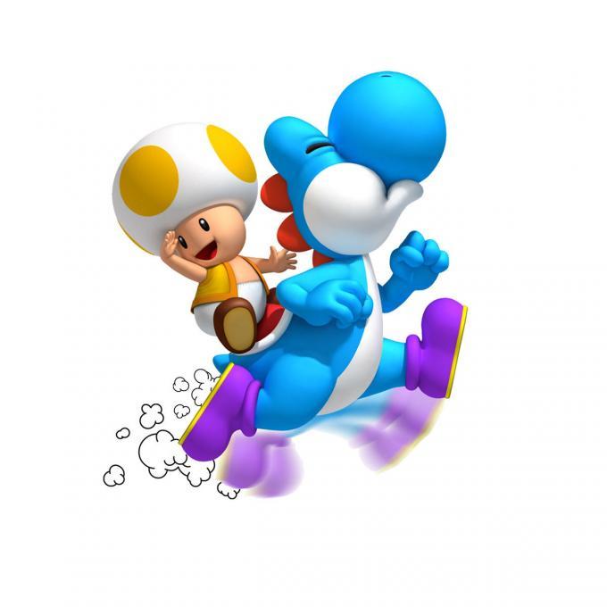 Camiseta niño Super Mario bros. Yoshi y Toad