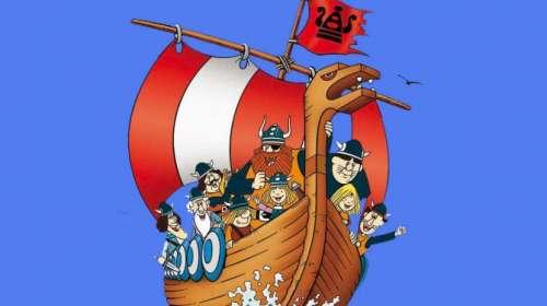 Camiseta niño Vicky el Vikingo. Barco