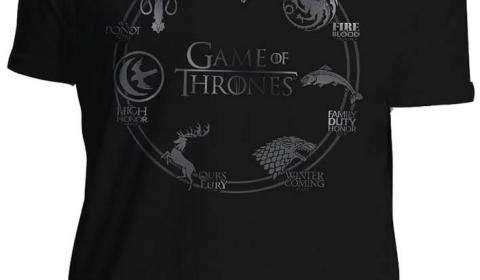 Camiseta siete reinos. Juego de Tronos