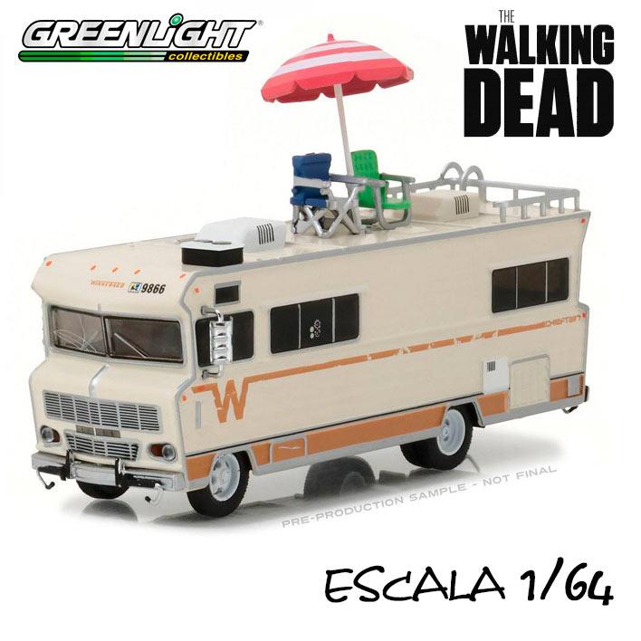 Caravana Dale's 1973 Winnebago Chieftain with Umbrella The Walking Dead
