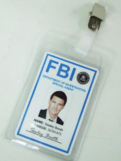 Carnet Credencial Bones. FBI