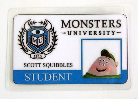 Carnet de estudiante Monstruos S.A. Monsters University. Squishy