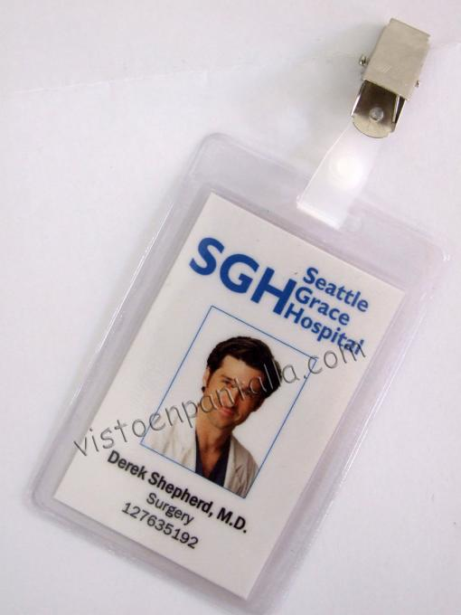 Carnet identificativo Anatomía de Grey. Derek Shepherd