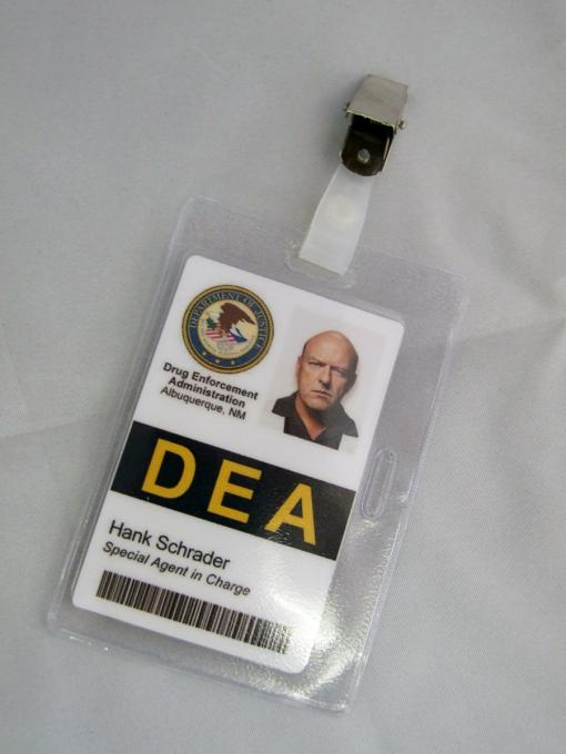 Carnet identificativo Breaking Bad. Hank Schrader