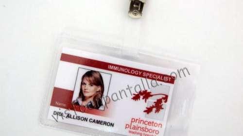 Carnet identificativo House. Dra. Allison Cameron