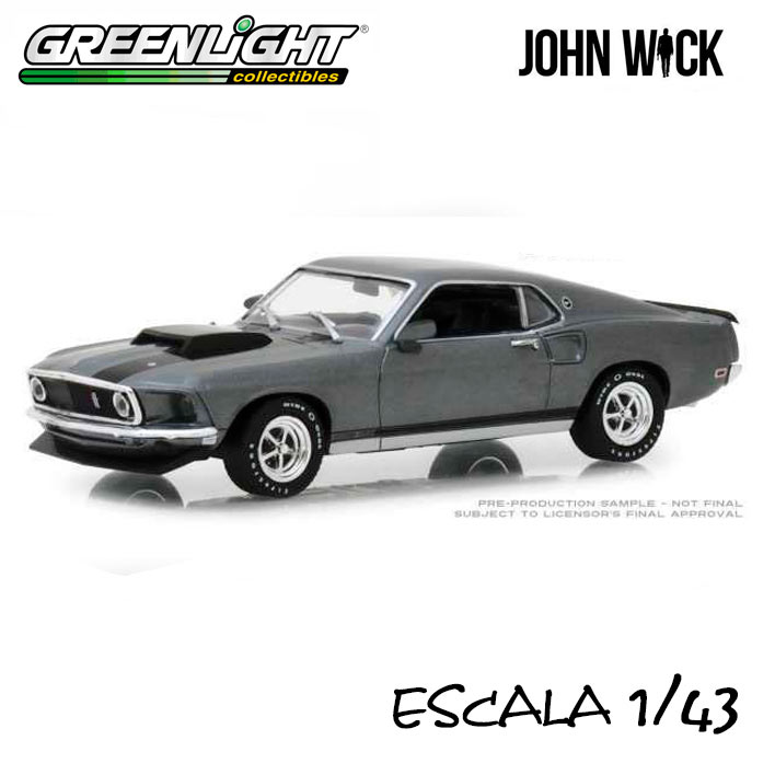 Coche 1969 Ford Mustang BOSS 429. John Wick. Escala 1:43. Greenlight Collectibles