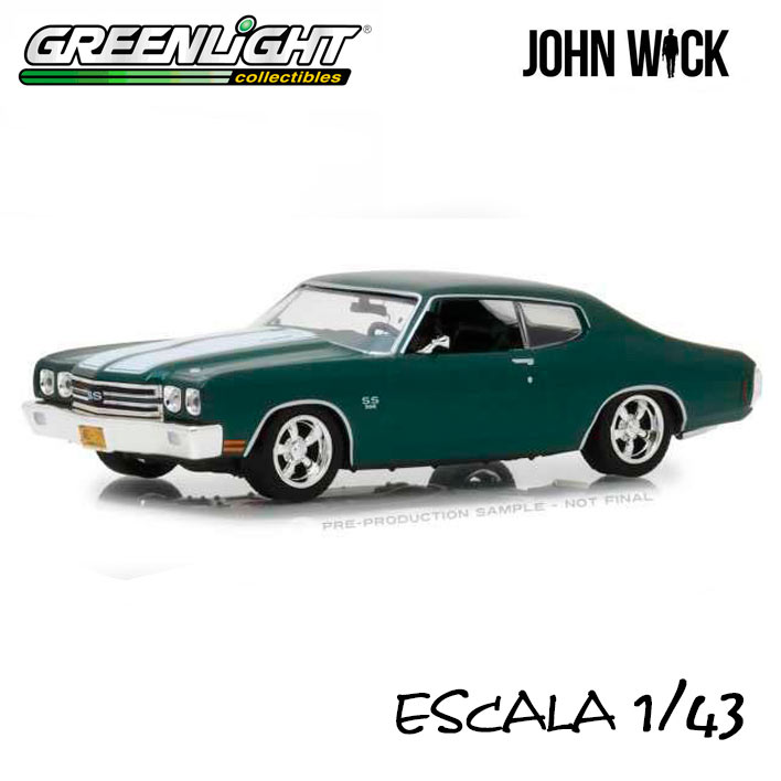 Coche 1970 Chevrolet Chevelle SS396. John Wick. Escala 1:43. Greenlight Collectibles