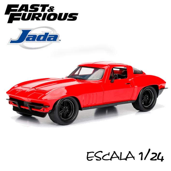 Coche Letty's 1966 Chevy Corvette. A todo gas. Escala 1:24 Jada Toys