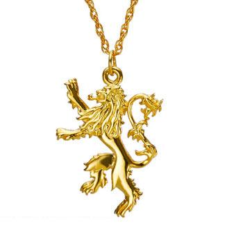 Colgante león casa Lannister. Plata de ley. Juego de Tronos. Noble Collection