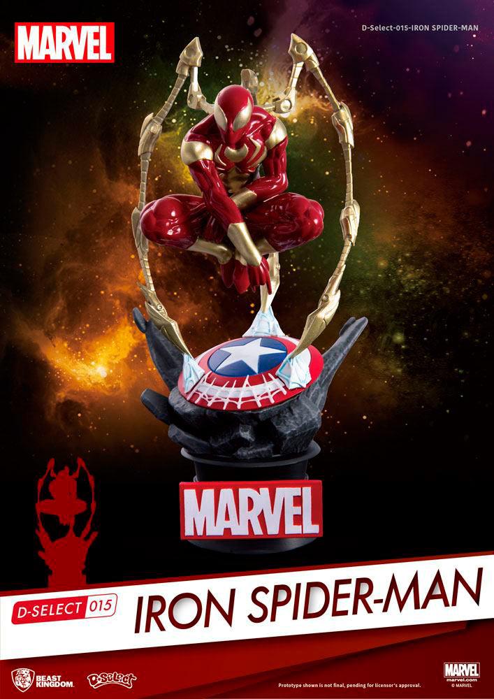 Diorama Spiderman (Iron Spider) 16 cm. Marvel Cómics. D-Select. Beast Kingdom Toys