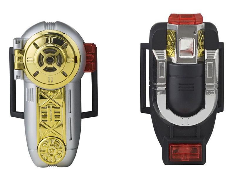 Dispositivo Morpher Zeonizer. Power Rangers. Con luz y sonido. Escala 1:1. Tamaño real. Bandai