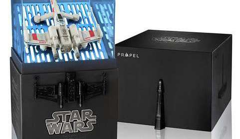 Dron Quadcopter caza rebelde T-65 X-Wing Starfighter. Star Wars. Specia Edition con Música Propel