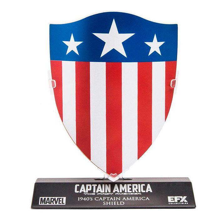 Escudo Capitán América 1940 exclusivo 10 cm. Escala 1/6