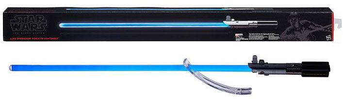 Espada sable láser Luke Skywalker Episodio VI Star Wars Black Series. Con luz y sonido. Línea Force FX. Hasbro