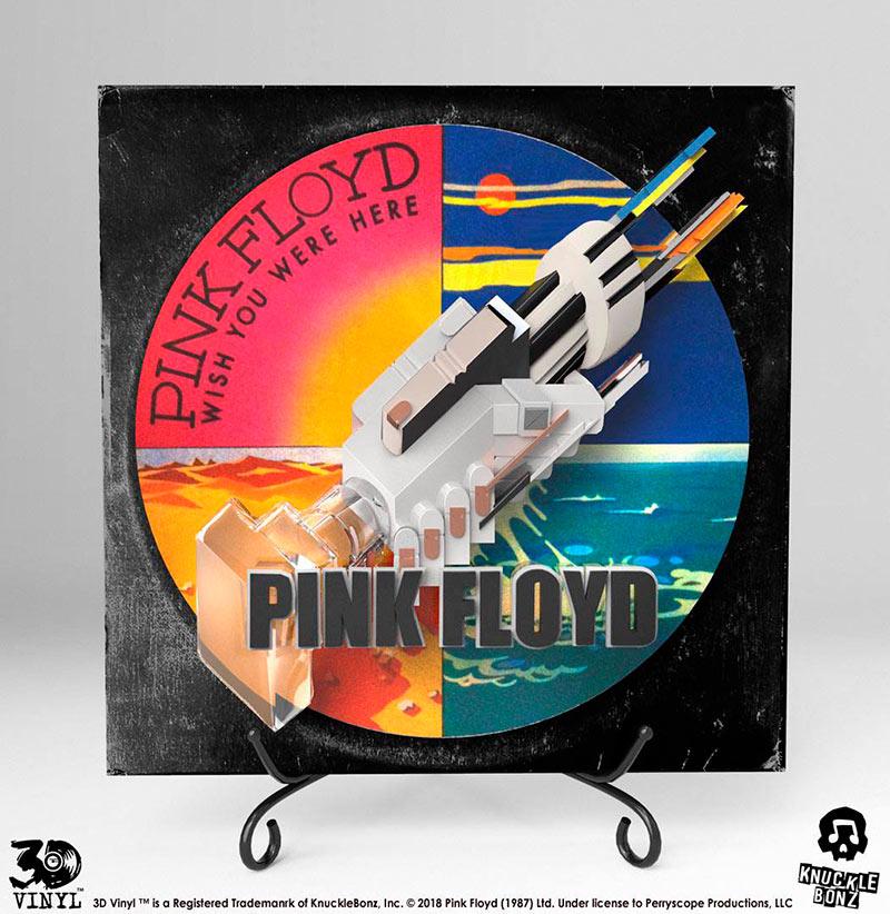 Estatua 3D portada álbum Wish You Were Here 30 cm. Pink Floyd. Knucklebonz