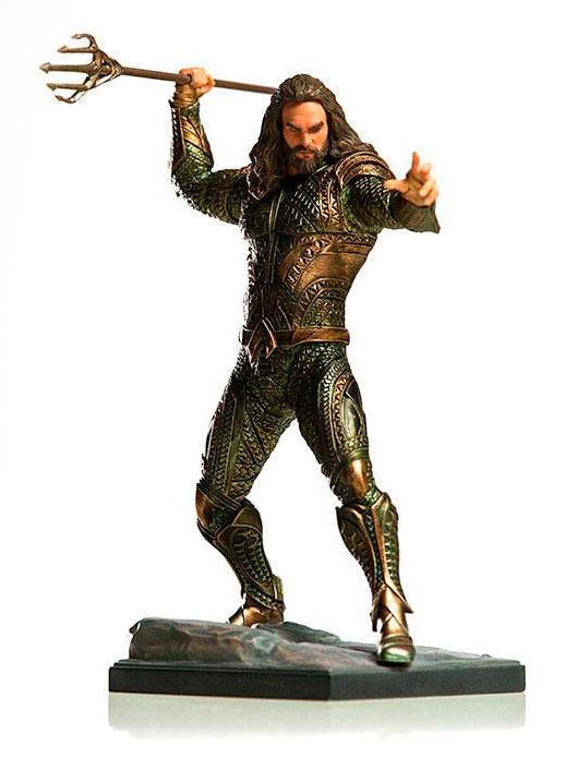 Estatua Aquaman 22 cm. La Liga de la Justicia. Escala 1:10. Iron Studios