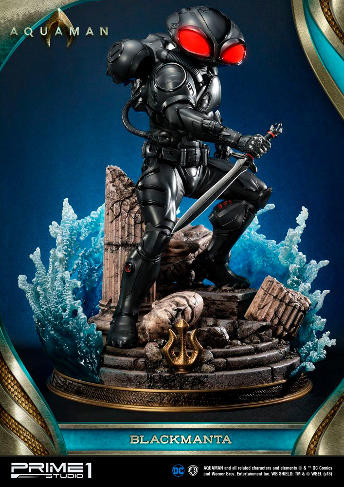 Estatua Black Manta 66 cm. Con luz. Escala 1:3. Prime 1 Studio