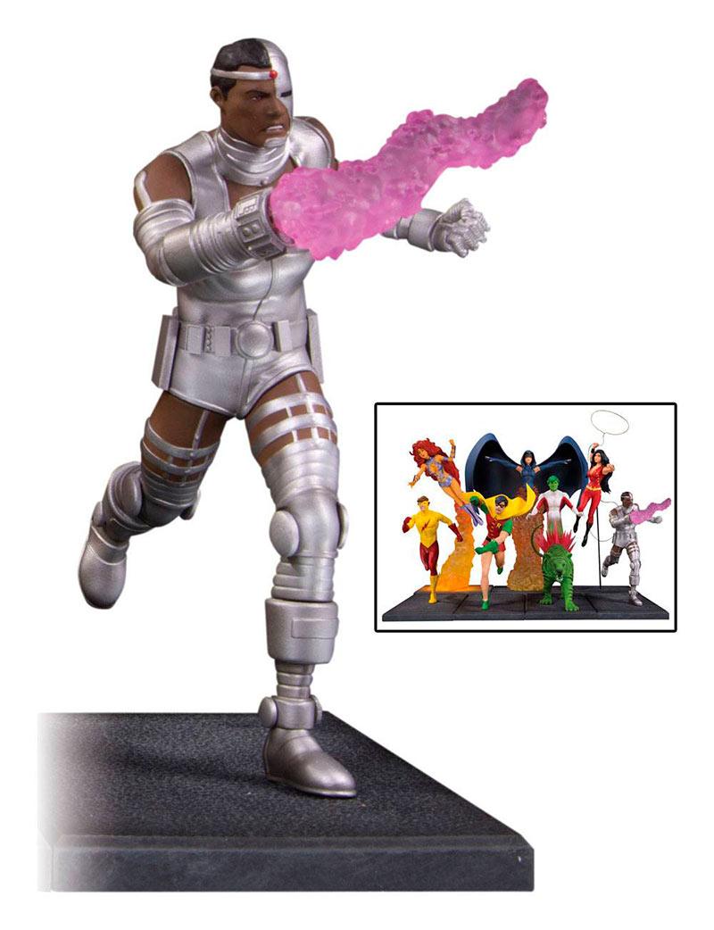 Estatua Cyborg 19 cm (parte 4 de 7). Teen Titans. DC Collectibles