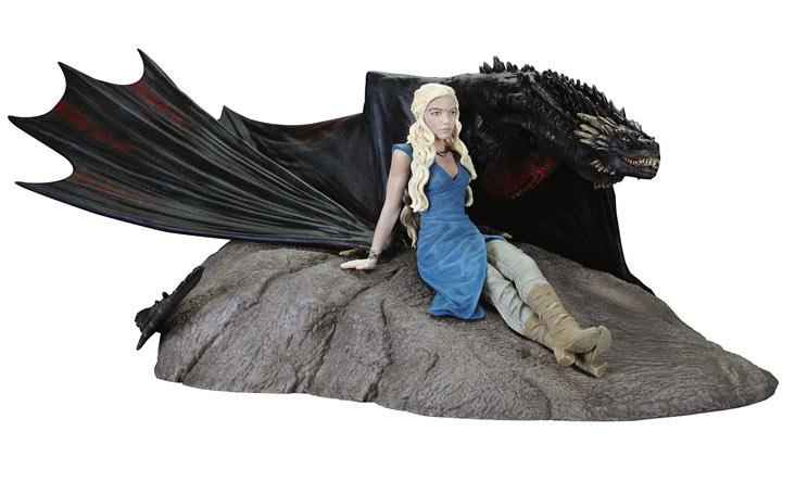 Estatua Daenerys & Drogon 8 x 18 cm. Juego de Tronos. Dark Horse