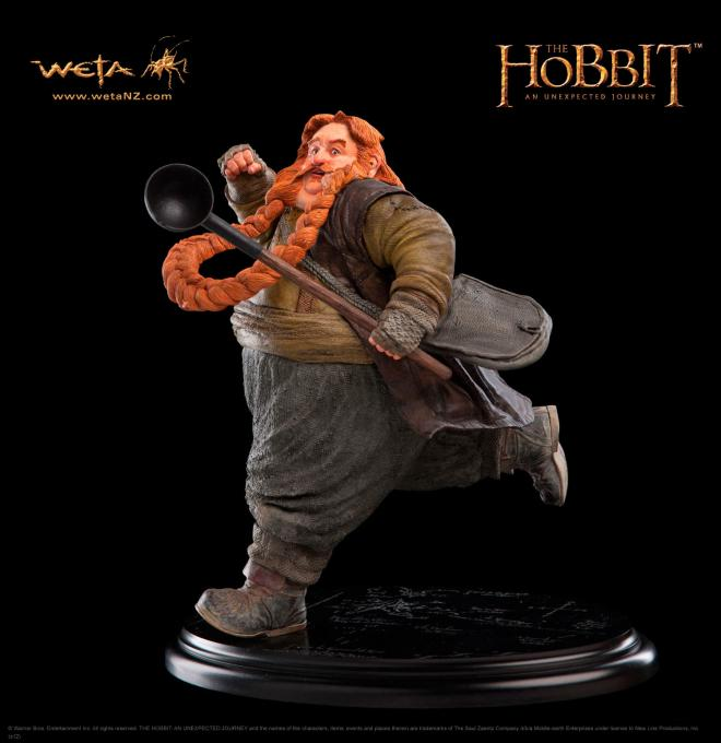 Estatua El Hobbit. Bombur 24 cm. Weta Collectibles