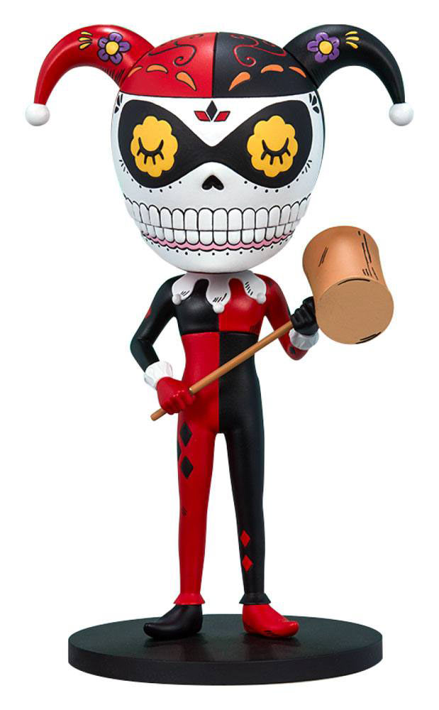 Estatua Harley Quinn Calavera 19 cm. By José Pulido. DC Cómics. Unruly Industries