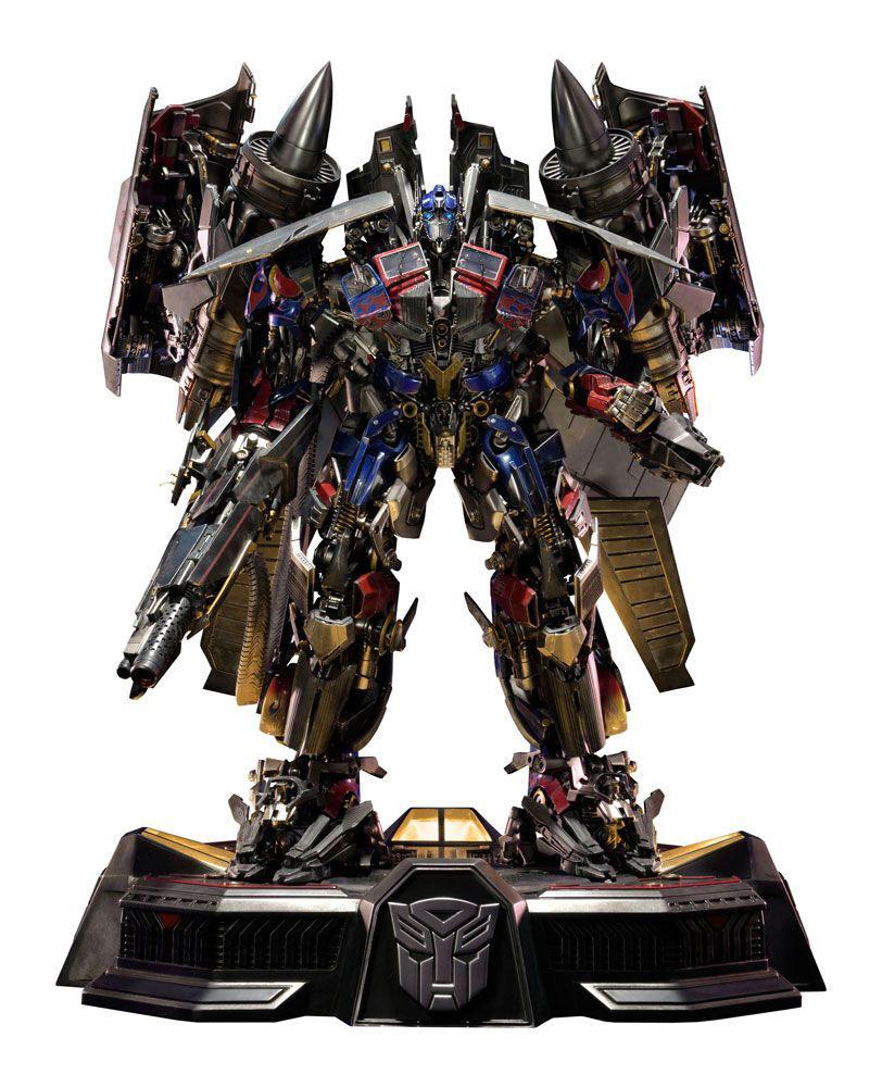 Estatua Jetpower Optimus Prime 93 cm. Transformers: La venganza de los caídos. Con luz. Prime 1 Studio