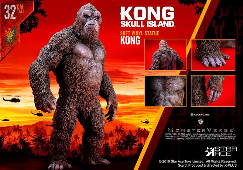 Estatua Kong 32 cm. Kong: La Isla Calavera. Versión estándar. Star Ace Toys